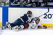 Brendan Mason (Yale - 22), Brian Gibbons (BC - 17) - The Boston College Eagles defeated the Yale University Bulldogs 9-7 in the Northeast Regional final on Sunday, March 28, 2010, at the DCU Center in Worcester, Massachusetts.
