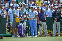 Rickie Fowler (USA) looks over his tee shot on 1 during round 1 of The Players Championship, TPC Sawgrass, at Ponte Vedra, Florida, USA. 5/10/2018.<br /> Picture: Golffile | Ken Murray<br /> <br /> <br /> All photo usage must carry mandatory copyright credit (&copy; Golffile | Ken Murray)