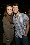 Laura Osnes and Corey Cott attend the Actors' Equity Broadway Opening Night Gypsy Robe Ceremony honoring Kevin Worley from 'Bandstand' at the Bernard B. Jacobs Theatre on 4/26/2017 in New York City.