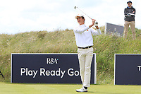 Luis Masaveu Roncal (ESP) on the 1st tee during Round 1 of the The Amateur Championship 2019 at The Island Golf Club, Co. Dublin on Monday 17th June 2019.<br /> Picture:  Thos Caffrey / Golffile<br /> <br /> All photo usage must carry mandatory copyright credit (© Golffile | Thos Caffrey)