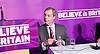 UKIP <br /> Nigel Farage makes his first speech of the GE2015 at Movie Star Cinema, Canvey Island, Great Britain <br /> 12th February 2015 <br /> <br /> Nigel Farage <br /> <br /> <br /> Photograph by Elliott Franks <br /> Image licensed to Elliott Franks Photography Services