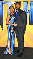 Zinzi Evans and Ryan Coogler at the &quot;Black Panther&quot; European film premiere, Hammersmith Apollo (Eventim Apollo), Queen Caroline Street, London, England, UK, on Thursday 08 February 2018.<br /> CAP/CAN<br /> &copy;CAN/Capital Pictures
