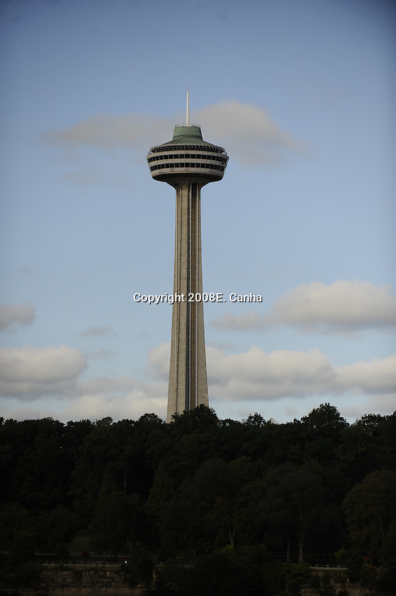 The Skylon Tower as seen from the United States