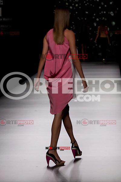 01.09.2012. Models walk the runway in the AA de Amaya Arzuaga fashion show during the Mercedes-Benz Fashion Week Madrid Spring/Summer 2013 at Ifema. (Alterphotos/Marta Gonzalez) /NortePhoto.com<br /> <br /> **CREDITO*OBLIGATORIO** <br /> *No*Venta*A*Terceros*<br /> *No*Sale*So*third*<br /> *** No*Se*Permite*Hacer*Archivo**<br /> *No*Sale*So*third*