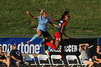 Piscataway, NJ - Saturday July 23, 2016: Shawna Gordon, Cheyna Williams during a regular season National Women's Soccer League (NWSL) match between Sky Blue FC and the Washington Spirit at Yurcak Field.
