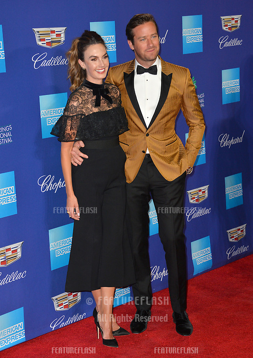 Armie Hammer &amp; Elizabeth Chambers at the 2018 Palm Springs Film Festival Awards at Palm Springs Convention Center, USA 02 Jan. 2018<br /> Picture: Paul Smith/Featureflash/SilverHub 0208 004 5359 sales@silverhubmedia.com