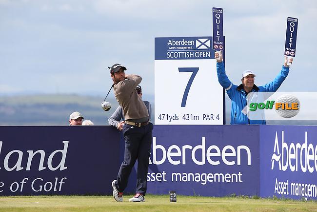 Adrian Otaegui (ESP) during Round Three of the 2015 Aberdeen Asset Management Scottish Open, played at Gullane Golf Club, Gullane, East Lothian, Scotland. /11/07/2015/. Picture: Golffile   David Lloyd<br /> <br /> All photos usage must carry mandatory copyright credit (&copy; Golffile   David Lloyd)