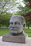 Statue of symphony conductor Arthur Fiedler's head. Boston, MA