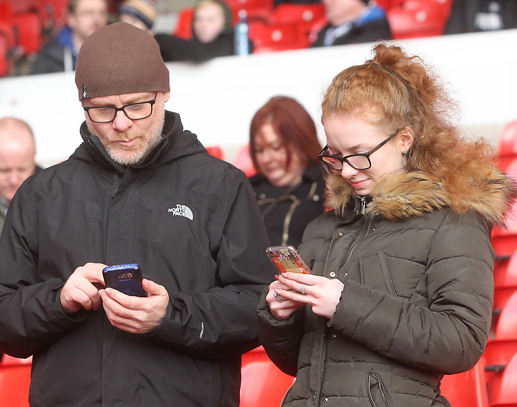 Preston North End's Fans anticipate the kick-offPhotographer Mick Walker/CameraSportThe EFL Sky Bet Championship - Nottingham Forest v Preston North End - Saturday 8th December 2018 - The City Ground - NottinghamWorld Copyright © 2018 CameraSport. All rights reserved. 43 Linden Ave. Countesthorpe. Leicester. England. LE8 5PG - Tel: +44 (0) 116 277 4147 - admin@camerasport.com - www.camerasport.com