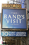 Tony winning Theatre Marquee as Samson Gabay joins the cast of 'The Band's Visit'  at the Barrymore Theatre on June 27, 2018 in New York City.