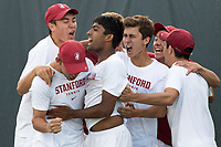 Stanford, CA -- 16th-seeded Stanford are victorious over 17th-seeded Michigan 4-1 in the NCAA second round at Taube Family Tennis Stadium.  May 13th, 2017.