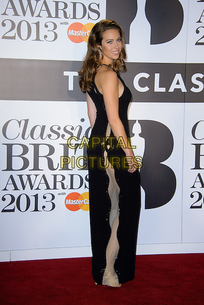 Amy Dickson<br /> Classical Brit Awards 2013 at The Royal Albert Hall - Arrivals, London, England.<br /> 2nd October, 2013<br /> full length black dress sheer panel side <br /> CAP/CJ<br /> &copy;Chris Joseph/Capital Pictures