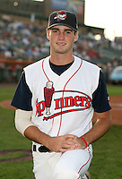 Caleb Clay of the Lowell Spinners, Class-A affiliate of the Boston Red Sox, during the New York-Penn League season.  Photo by:  Mike Janes/Four Seam Images