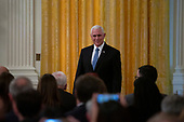United States Vice President Mike Pence arrives to the joint press conference between United States President Donald J. Trump and President of the Republic of Finland Sauli Niinistö at the White House in Washington D.C., U.S. on October 2, 2019.<br /> <br /> Credit: Stefani Reynolds / CNP