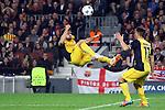 UEFA Champions League 2013/2014.<br /> Quarter-finals 1st leg.<br /> FC Barcelona vs Club Atletico de Madrid: 1-1.<br /> Gabi &amp; Cristian Rodriguez.