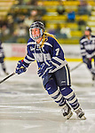 14 February 2015: University of New Hampshire Wildcat Forward Sara Carlson, a Junior from Hutchinson, MN, in second period action against the University of Vermont Catamounts at Gutterson Fieldhouse in Burlington, Vermont. The Ladies played to a 3-3 tie in their final meeting of the NCAA Hockey East season. Mandatory Credit: Ed Wolfstein Photo *** RAW (NEF) Image File Available ***