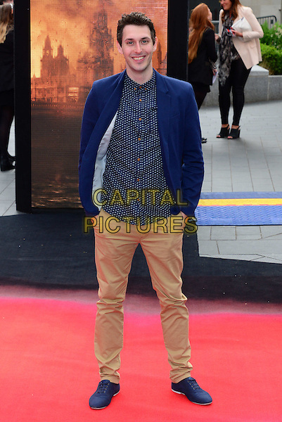 LONDON, ENGLAND - MAY 11:  Blake Harrison attends Godzilla UK film premiere, remake of action adventure, featuring the iconic film monster that terrorises Japan, at Odeon Leicester Square, 24-26 Leicester Square, on May 11, 2014, in London, England.  <br /> CAP/JOR<br /> &copy;Nils Jorgensen/Capital Pictures