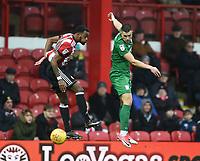 Preston's Billy Bodin and Brentford's Josh Clarke<br /> <br /> Photographer Jonathan Hobley/CameraSport<br /> <br /> The EFL Sky Bet Championship - Brentford v Preston North End - Saturday 10th February 2018 - Griffin Park - Brentford<br /> <br /> World Copyright &copy; 2018 CameraSport. All rights reserved. 43 Linden Ave. Countesthorpe. Leicester. England. LE8 5PG - Tel: +44 (0) 116 277 4147 - admin@camerasport.com - www.camerasport.com