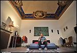 L'architetto Stefano Rossi nella sua casa di Asti. 2012