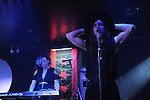 Yoko Homo performs at the Cobra Lounge near Union Park in Chicago, Illinois on April 18, 2015.