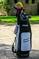 Cormack Sharvin (NIR) bag during the Pro-Am of the Challenge Tour Grand Final 2019 at Club de Golf Alcanada, Port d'Alcúdia, Mallorca, Spain on Wednesday 6th November 2019.<br /> Picture:  Thos Caffrey / Golffile<br /> <br /> All photo usage must carry mandatory copyright credit (© Golffile | Thos Caffrey)