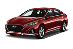 2019 Hyundai Sonata Sport 4 Door Sedan angular front stock photos of front three quarter view