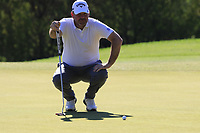 Thomas Bjorn (DEN) on the 10th green during Thursday's Round 1 of the 2018 Turkish Airlines Open hosted by Regnum Carya Golf &amp; Spa Resort, Antalya, Turkey. 1st November 2018.<br /> Picture: Eoin Clarke | Golffile<br /> <br /> <br /> All photos usage must carry mandatory copyright credit (&copy; Golffile | Eoin Clarke)