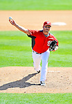 2 March 2011: Washington Nationals pitcher Yunesky Maya on the mound during a Spring Training game against the Florida Marlins at Space Coast Stadium in Viera, Florida. The Nationals defeated the Marlins 8-4 in Grapefruit League action. Mandatory Credit: Ed Wolfstein Photo