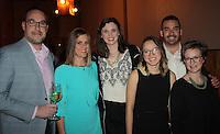 NWA Democrat-Gazette/CARIN SCHOPPMEYER Jason Willems (from left) Audre Darling, Lauren Blanco, Lynna Blanco and Preston and Abby Stewart help support the Jackson L. Graves Foundation.