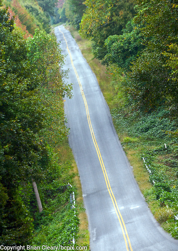 Country road, Danville, VA, October 5, 2009. (Photo by Brian Cleary/www.bcpix.com)