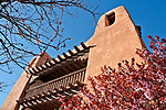 Looking up at St. Francis Auditorium in downtown Santa Fe, New Mexico