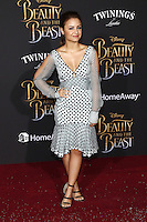 www.acepixs.com<br /> <br /> March 2 2017, LA<br /> <br /> Aimee Carrero arriving at the premiere of Disney's 'Beauty And The Beast' at the El Capitan Theatre on March 2, 2017 in Los Angeles, California.<br /> <br /> By Line: Famous/ACE Pictures<br /> <br /> <br /> ACE Pictures Inc<br /> Tel: 6467670430<br /> Email: info@acepixs.com<br /> www.acepixs.com