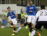Nicky Law fires in the third goal for Rangers