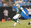 STEVE WEATHERFORD, of the New York Jets in action during the Jets game against the Carolina Panthers  at Bank of America Stadium in Charlotte, N.C.  on August 21, 2010.  The Jets beat the Panthters 9-3 in the second week of preseason games...