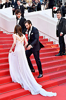 www.acepixs.com<br /> <br /> May 19 2017, Cannes<br /> <br /> (L-R) Lily Collins and Jake Gyllenhaal arriving at the 'Okja' screening during the 70th annual Cannes Film Festival at Palais des Festivals on May 19, 2017 in Cannes, France. <br /> <br /> <br /> By Line: Famous/ACE Pictures<br /> <br /> <br /> ACE Pictures Inc<br /> Tel: 6467670430<br /> Email: info@acepixs.com<br /> www.acepixs.com