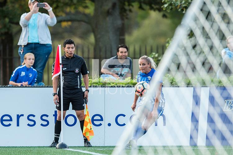 Boston, MA - Sunday September 10, 2017: Adriana Leon during a regular season National Women's Soccer League (NWSL) match between the Boston Breakers and Portland Thorns FC at Jordan Field.