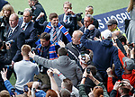 04.05.2018 Steven Gerrard meets the fans at Ibrox