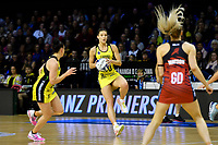 Pulse&rsquo; Karin Burger in action during the ANZ Premiership - Pulse v Tactix at TSB Arena, Wellington, New Zealand on Monday 14 May 2018.<br /> Photo by Masanori Udagawa. <br /> www.photowellington.photoshelter.com