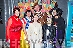 Enjoying the Inspired 'Monster Mash' fancy dress party in the Ashe Hotel on Thursday night.<br /> Front Sarah Fitzmartin and Anna O'Keeffe.<br /> Back l to r: Patricia O'Connor, Cona Forbes, Josh Moore and Hilda Fitzmartin.