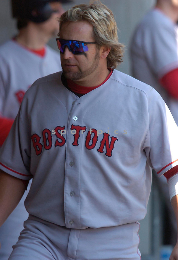 Kevin Millar of the Boston Red Sox in action against the Seattle Mariners...Red Sox win 2-1..Chris Bernacchi / SportPics