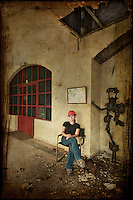 Self portrait in abandoned Belgian powerplant museum http://www.vivecakohphotography.co.uk/2011/10/13/the-museum/