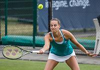 Den Bosch, Netherlands, 13 June, 2017, Tennis, Ricoh Open, Erika Vogelsang (NED) (R)<br /> Photo: Henk Koster/tennisimages.com
