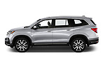 Car driver side profile view of a 2020 Honda Pilot Touring 5 Door SUV
