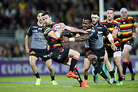 David Halaifonua of Gloucester and Kini Murimurivalu of La Rochelle during the European Challenge Cup semi final between La Rochelle and Gloucester on April 22, 2017 in La Rochelle, France. (Photo by Vincent Michel/Icon Sport)