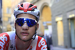 Tim Wellens (BEL) Lotto Soudal after crossing the finish line of Strade Bianche 2019 running 184km from Siena to Siena, held over the white gravel roads of Tuscany, Italy. 9th March 2019.<br /> Picture: Eoin Clarke | Cyclefile<br /> <br /> <br /> All photos usage must carry mandatory copyright credit (© Cyclefile | Eoin Clarke)