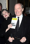 Annette O'Toole & Michael McKeon.exiting the Stager Door after  the Broadway Opening Night Performance of 'Gore Vidal's The Best Man' at the Gerald Schoenfeld Theatre in New York City on 4/1/2012