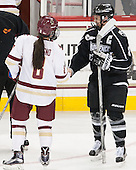 Dana Trivigno (BC - 8), Lexi Romanchuk (PC - 8) - The Boston College Eagles defeated the visiting Providence College Friars 7-1 on Friday, February 19, 2016, at Kelley Rink in Conte Forum in Boston, Massachusetts.