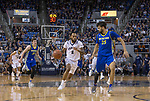 Nevada guard Corey Henson (2) drives past San Jose State center Craig LeCeBrae Ivey (25) in the first half of an NCAA college basketball game in Reno, Nev., Wednesday, Jan. 9, 2019. (AP Photo/Tom R. Smedes)