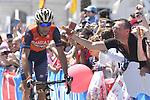 Vincenzo Nibali (ITA) Bahrain-Merida arrives at sign on before the start of Stage 8 of the 100th edition of the Giro d'Italia 2017, running 189km from Molfetta to Peschici, Italy. 1th May 2017.<br /> Picture: LaPresse/Fabio Ferrari | Cyclefile<br /> <br /> <br /> All photos usage must carry mandatory copyright credit (&copy; Cyclefile | LaPresse/Fabio Ferrari)
