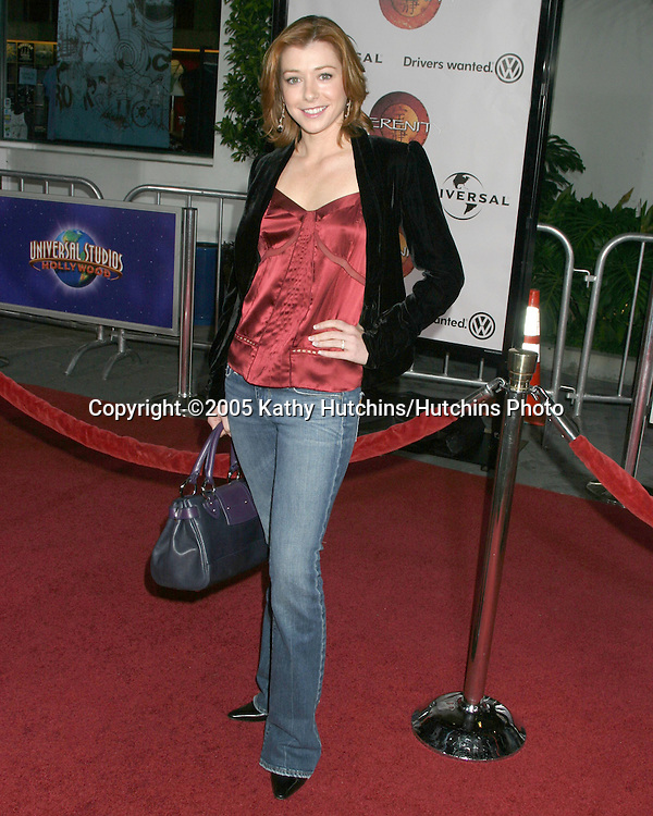 Alyson Hannigan.Serenity Premiere.City Walk.Universal City, CA.September 22, 2005.©2005 Kathy Hutchins / Hutchins Photo